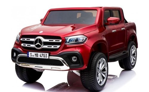 MERCEDES PICKUP X CLASS 2 PLAZAS 12V MP4 ROJO METALIZADO